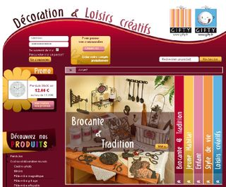 Gifty-site-e-commerce-page-accueil-art-decoratif-orleans-france