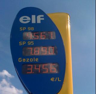Le prix de l'essence s'envole...