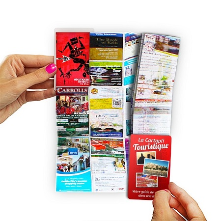 Carte de visite dépliante