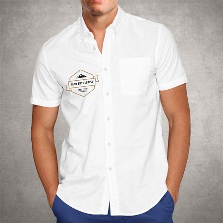 Impression chemisette classique poitrine droit